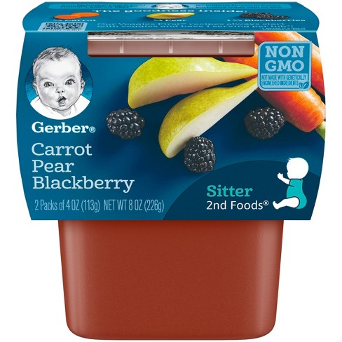 Gerber 2nd Foods Carrot Pear Blackberry Baby Food - 4oz (2ct) - image 1 of 4