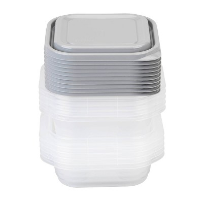 GoodCook EveryWare Square 2.9 Cups And 5.2 Cups Food Storage Container - 10pk
