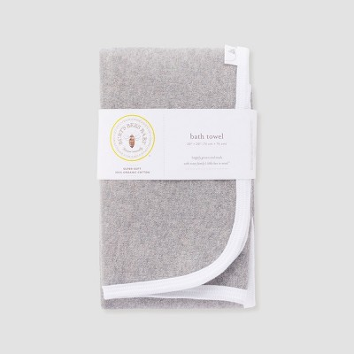 Burt's Bees Baby Organic Cotton Single Ply Towel - Heather Gray One Size