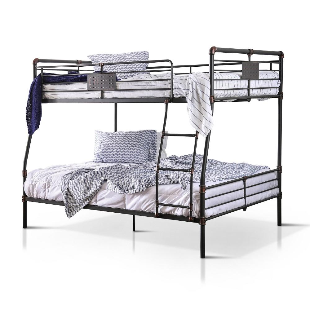 Queen Derrick Kids Bunk Bed Antique Black - Sun & Pine