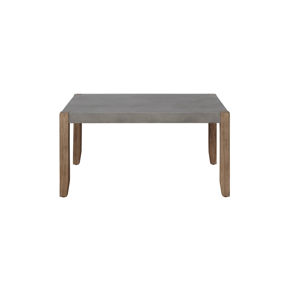 36 34 Davenport Faux Concrete And Wood Coffee Table Light Amber Alaterre Furniture