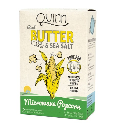 Quinn Butter And Sea Salt Popcorn - 3.5oz 2ct - image 1 of 1