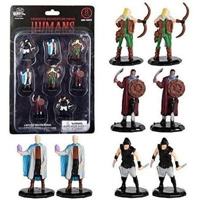 """Monster Protectors Painted Fantasy Bandit Mini Figures for D&D - 1"""", 8 Pieces"""