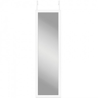 """Americanflat Over The Door Full Length Floating Mirror Durable Shatterproof Glass with MDF Frame - 12"""" x 48"""""""