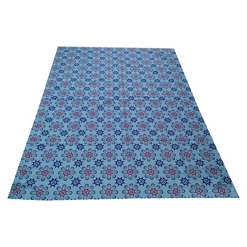 Medallion Pattern Indoor/Outdoor Tablecloth - Blue - image 1 of 1