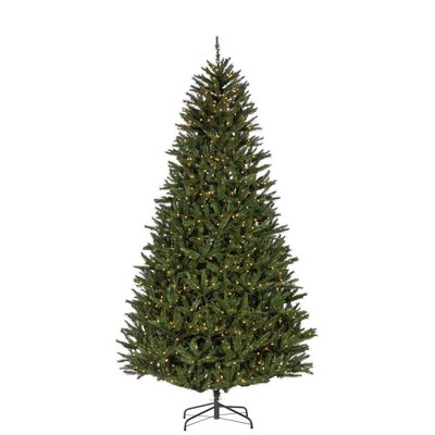 9ft Sterling Tree Company Full New England Pine with 1100 Clear Lights Artificial Christmas Tree