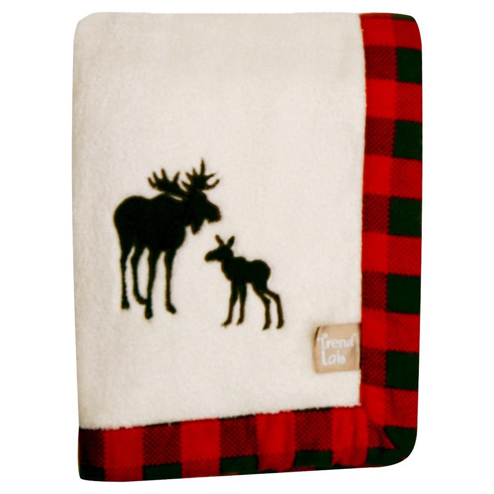 Image of Trend Lab Northwoods Moose Receiving Blanket