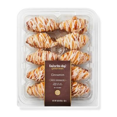 Cinnamon Petite Croissants - 15oz/20ct - Favorite Day™