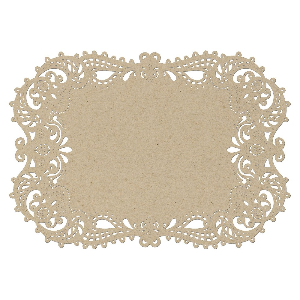 Wedding Filigree Cut Table Placemats Brown