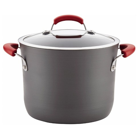 Rachael Ray Hard Anodized Nonstick 8 Quart Stock Pot - Red Handles - image 1 of 4
