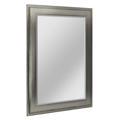 """31.5"""" x 43.5"""" Two-Toned Frame Mirror Silver - Head West"""