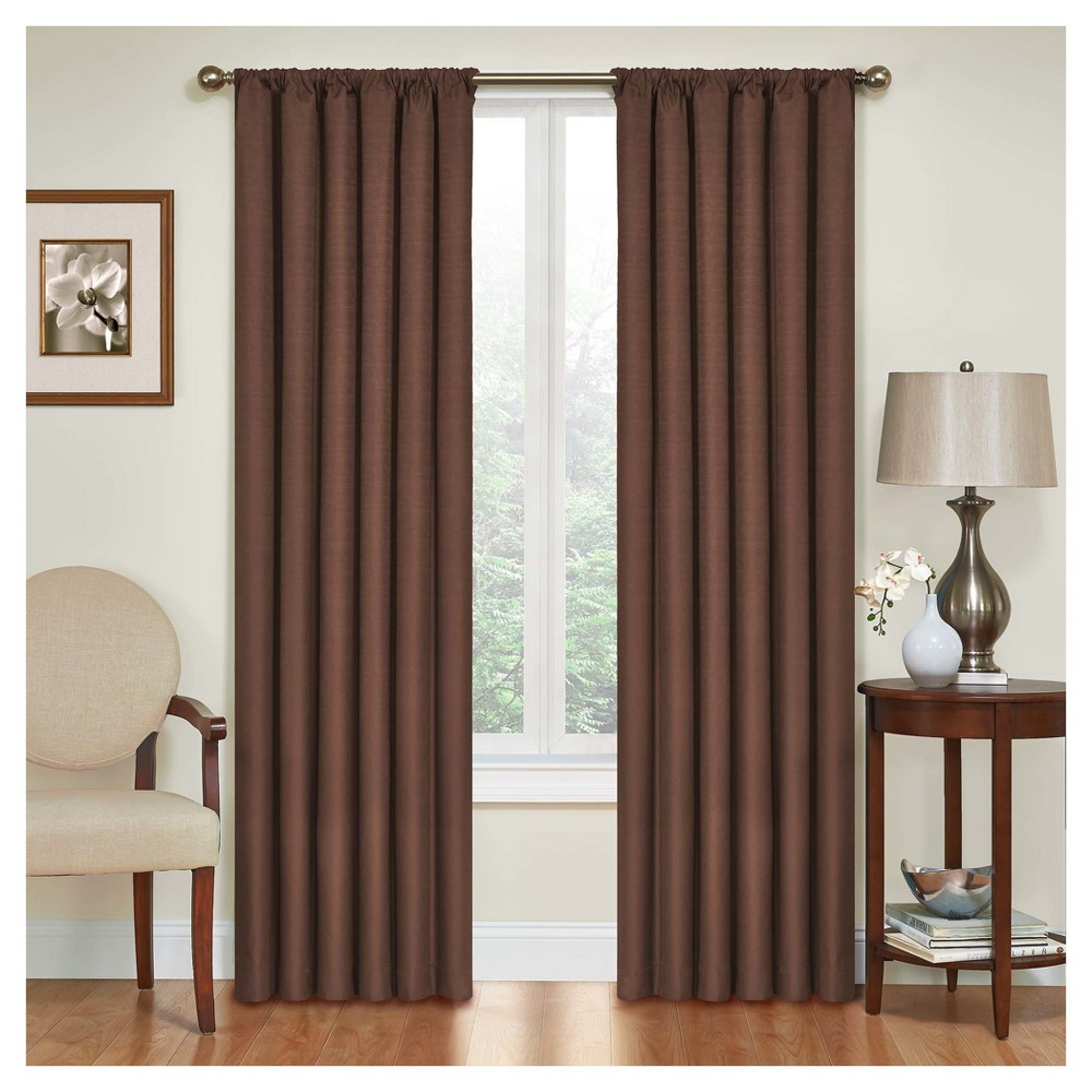 Kendall Thermaback Blackout Curtain Panel Brown (42