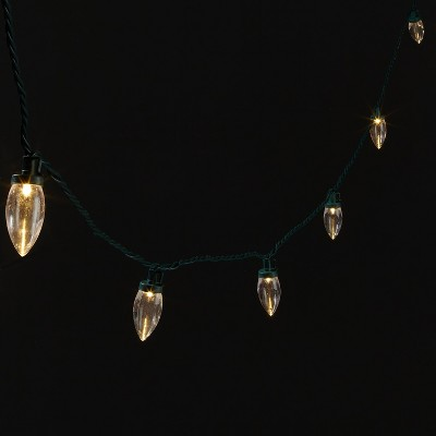 25ct LED Smooth C9 String Lights with Green Wire - Wondershop™