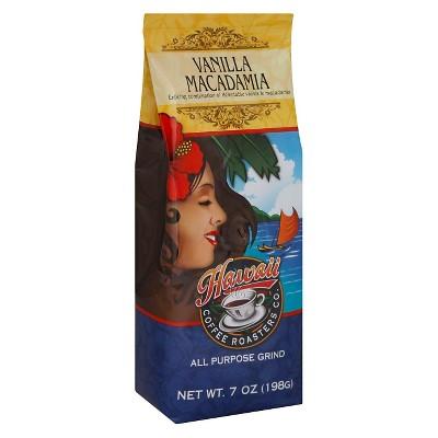 Hawaiian Isles Vanilla Macadamia Medium Roast Ground Coffee - 7oz