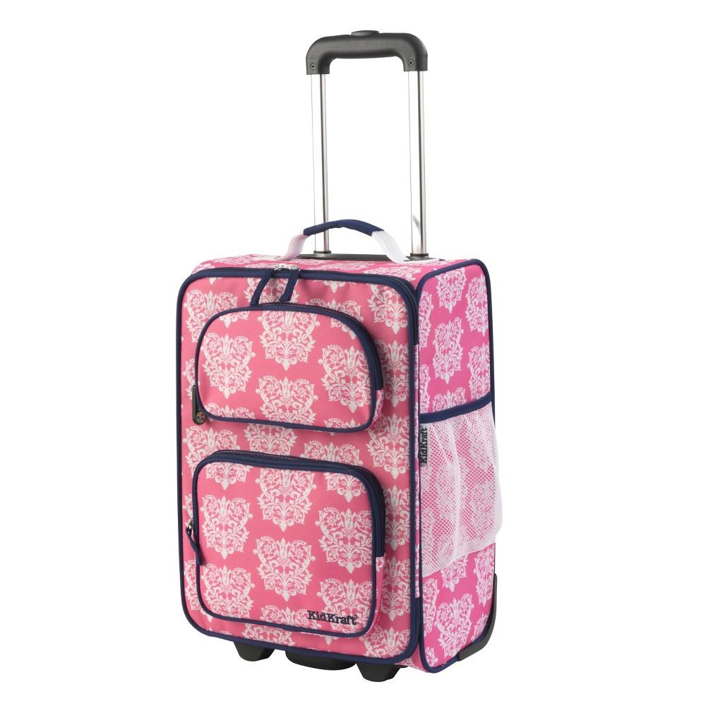 KidKraft Rolling Suitcase - Damask (Pink)