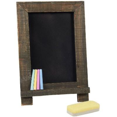 Juvale 6-Piece Chalkboard Sign Blackboard Black Board with Chalk Markers & Eraser 14.25 x 9.6 in