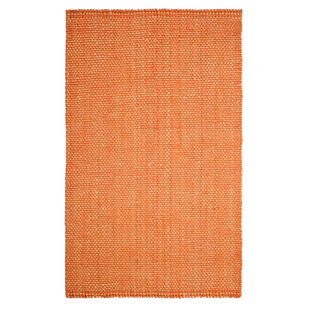 Rust/Natural (Red/Natural) Basket Weave Woven Area Rug 8'X10' - Safavieh