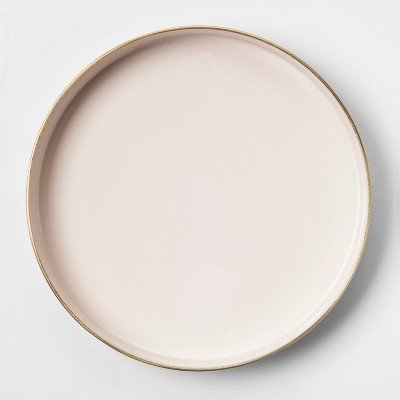 Round Brass Enamel Tray (7 )- Pink/Gold - Project 62™