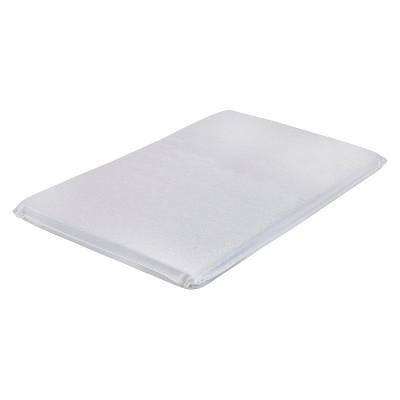 LA Baby 2  Laminated Mini Portable Crib Mattress Pad - White