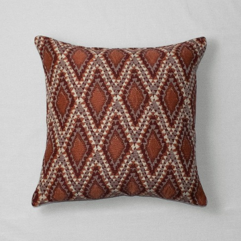 Diamond Global Throw Pillow Red - Opalhouse™ - image 1 of 2