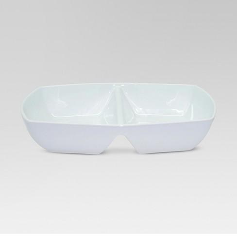Divided Serving Dish White Threshold Target