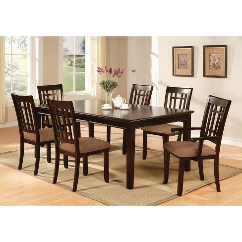 Iohomes Simple Wooden Dining Table Wood Dark Cherry