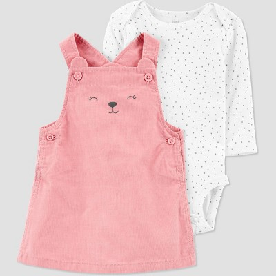 Baby Girls' Bear Skirtall Top & Bottom Set - Just One You® made by carter's Pink/Off-White 3M