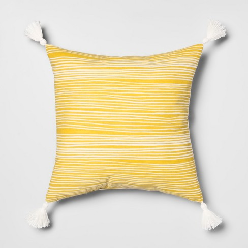 Printed Stripes Square Throw Pillow - Opalhouse™ - image 1 of 3