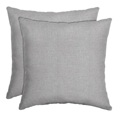 2pk Paloma Woven Outdoor Throw Pillows Gray - Arden Selections