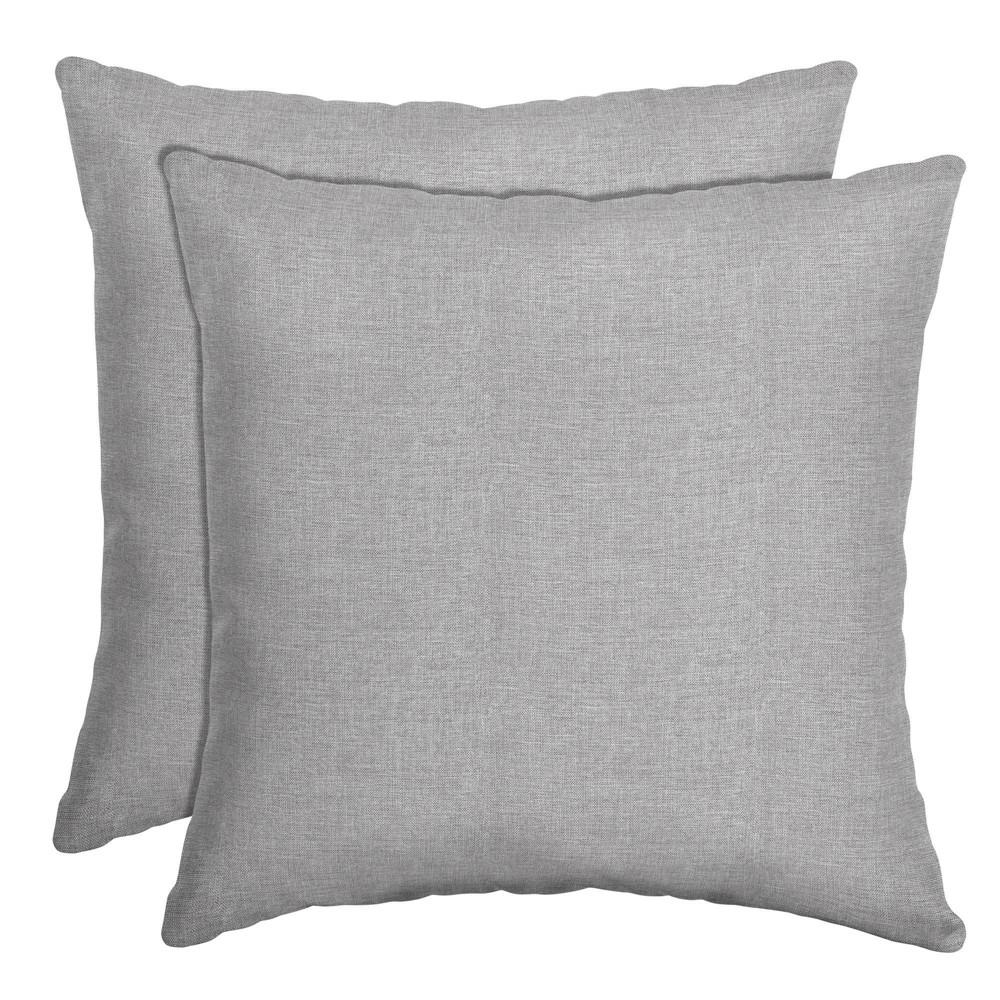 2pk Paloma Woven Outdoor Throw Pillows Gray Arden Selections