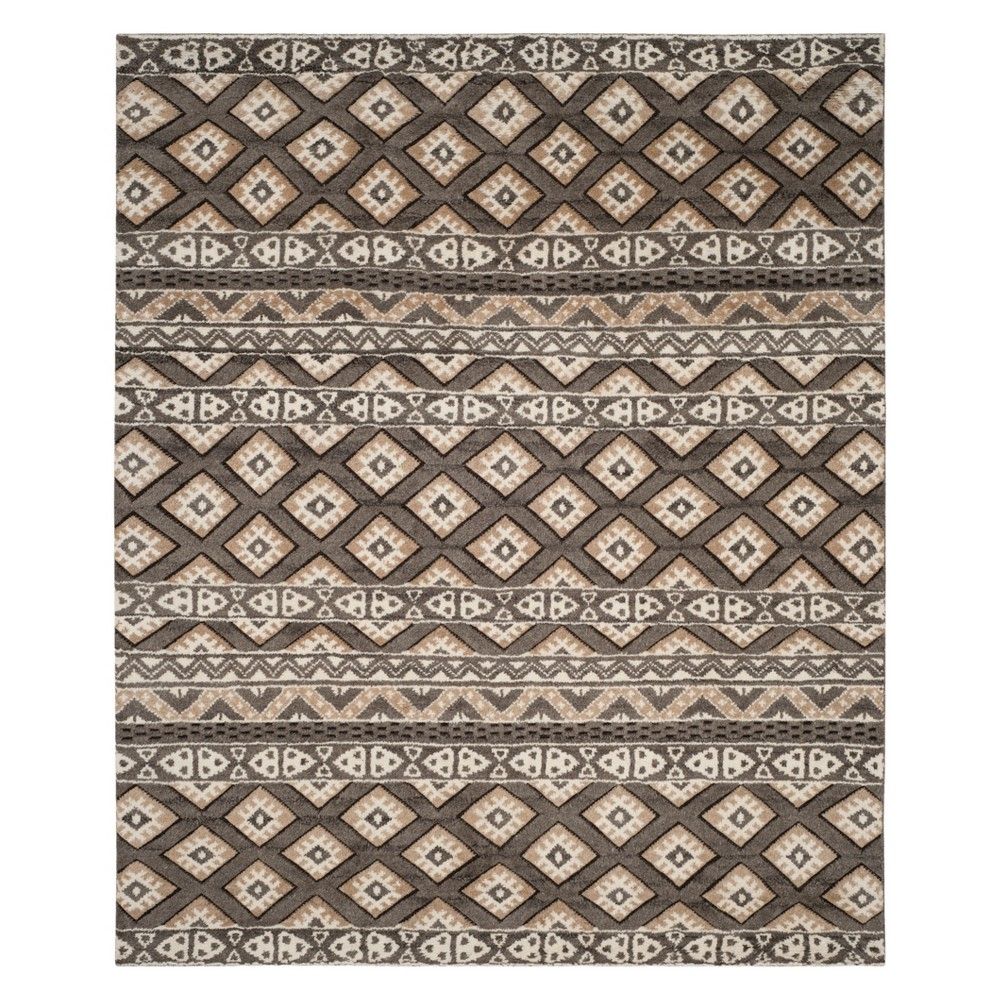 9'X12' Tribal Design Knotted Area Rug Camel - Safavieh Product Image