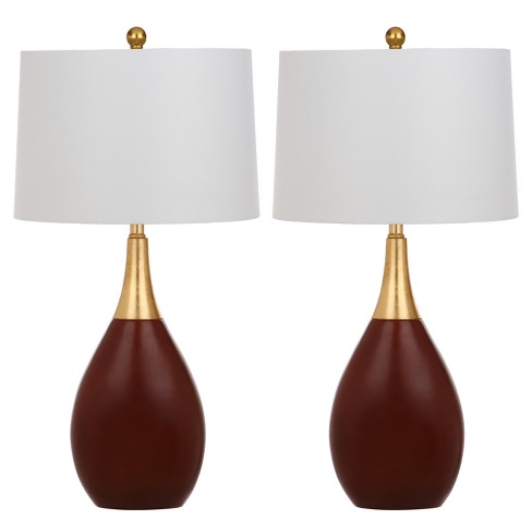 Medallion Gold/Brown Table Lamp Set of 2 - Safavieh - image 1 of 3