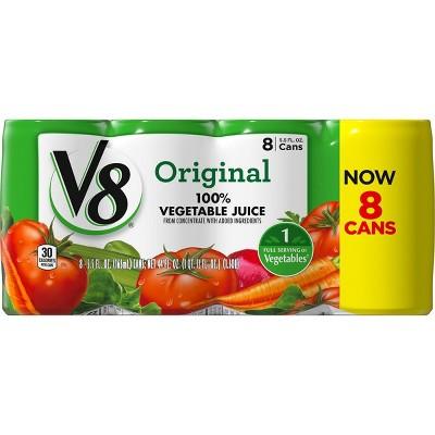 V8 Original 100% Vegetable Juice - 8pk/5.5 fl oz Cans