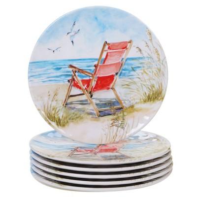 "9"" 6pk Ocean View Salad Plates - Certified International"