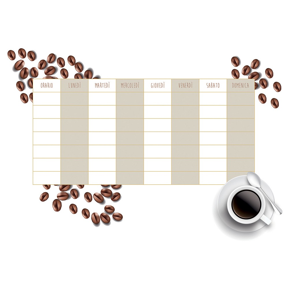 DecorlineDry Erase Calendar Decal Monthly - Coffee, Brown