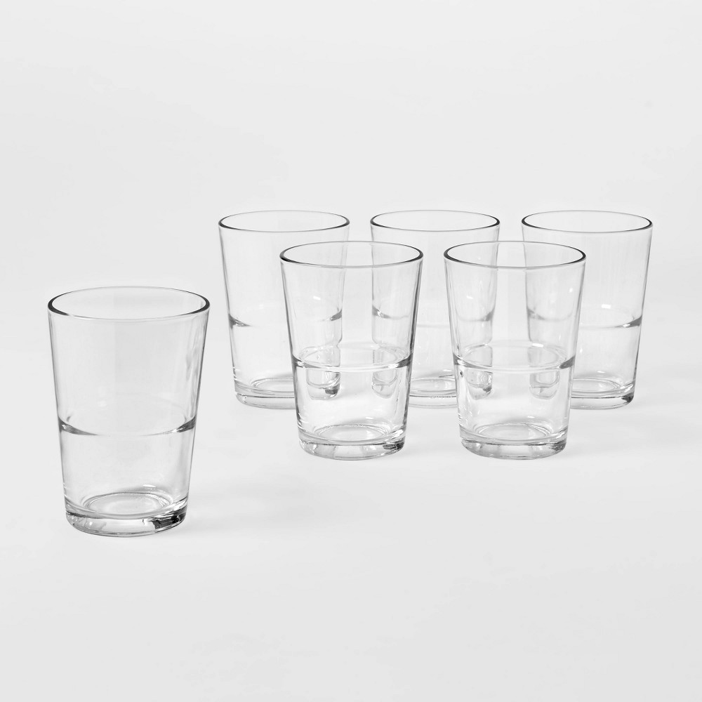 16 4oz Glass Stackable Tall Tumblers Set Of 6 Made By Design 8482