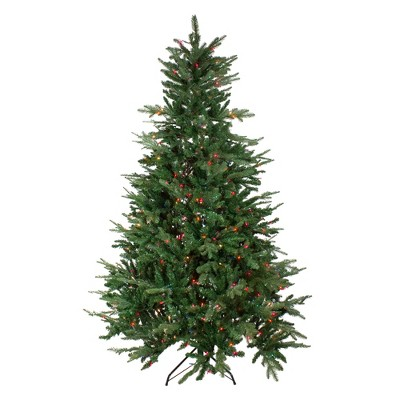 Vickerman 9' Pre-Lit Artificial Christmas Tree Grantwood Pine - Multi-Color Lights