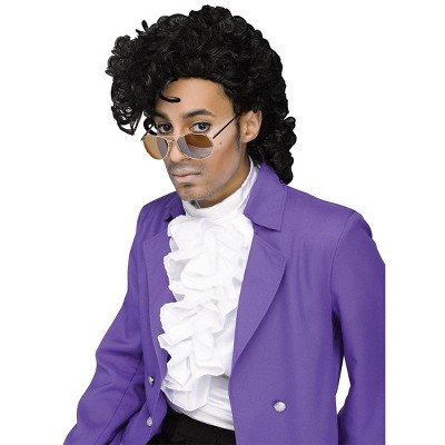 Fun World Purple Pain Rock Star Costume Wig Adult Men