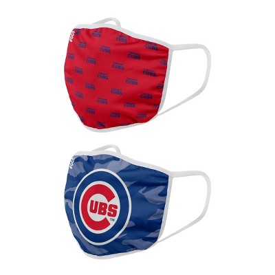 MLB Chicago Cubs Youth Clutch Printed Face Covering - 2pk