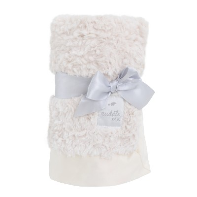 NoJo Cuddle Me Luxury Plush Blanket - Ivory