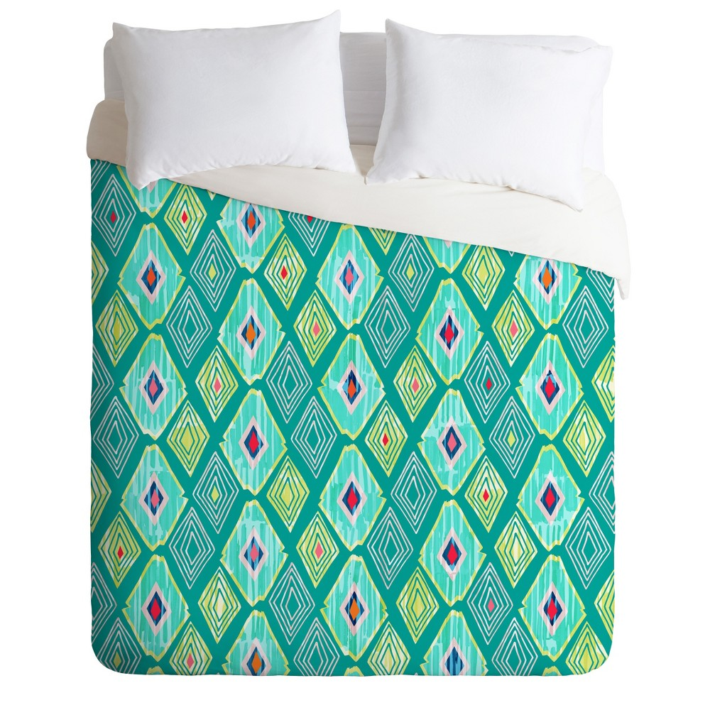 Green Iveta Abolina Morocco On My Mind Ii Duvet Cover Queen Deny Designs