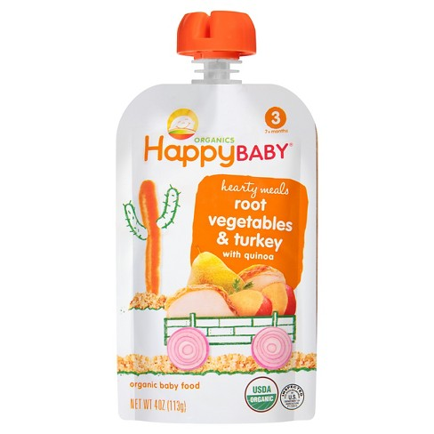 Happy Baby Stage 3 Hearty Meals Gobble Gobble Organic Baby Food - 4oz - image 1 of 4