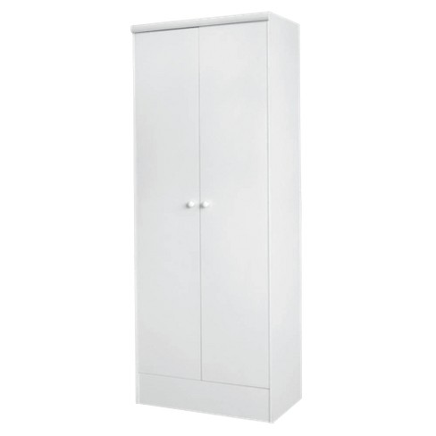 2 Door Pantry Wood/White - image 1 of 2