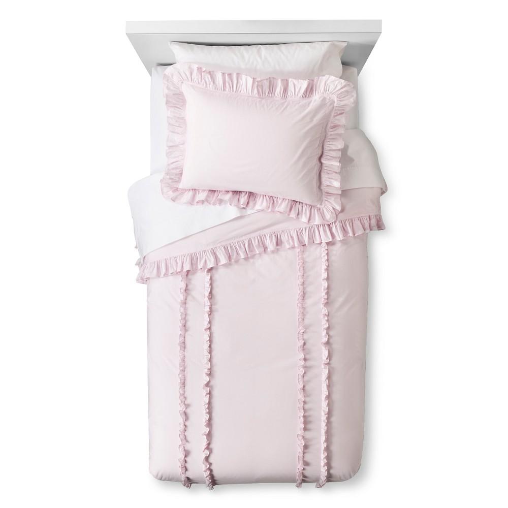 Ruffle Duvet & Sham Set Full/Queen - Pink - Simply Shabby Chic