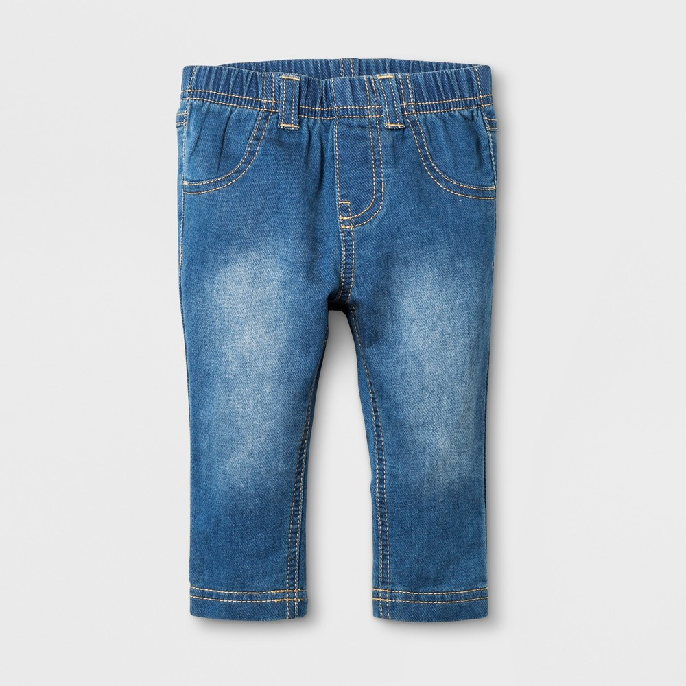 Baby Girls' Jeans - Cat & Jack Medium Wash 0-3M, Blue