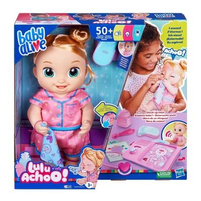Baby Alive Lulu Achoo Baby Doll - Blonde Hair