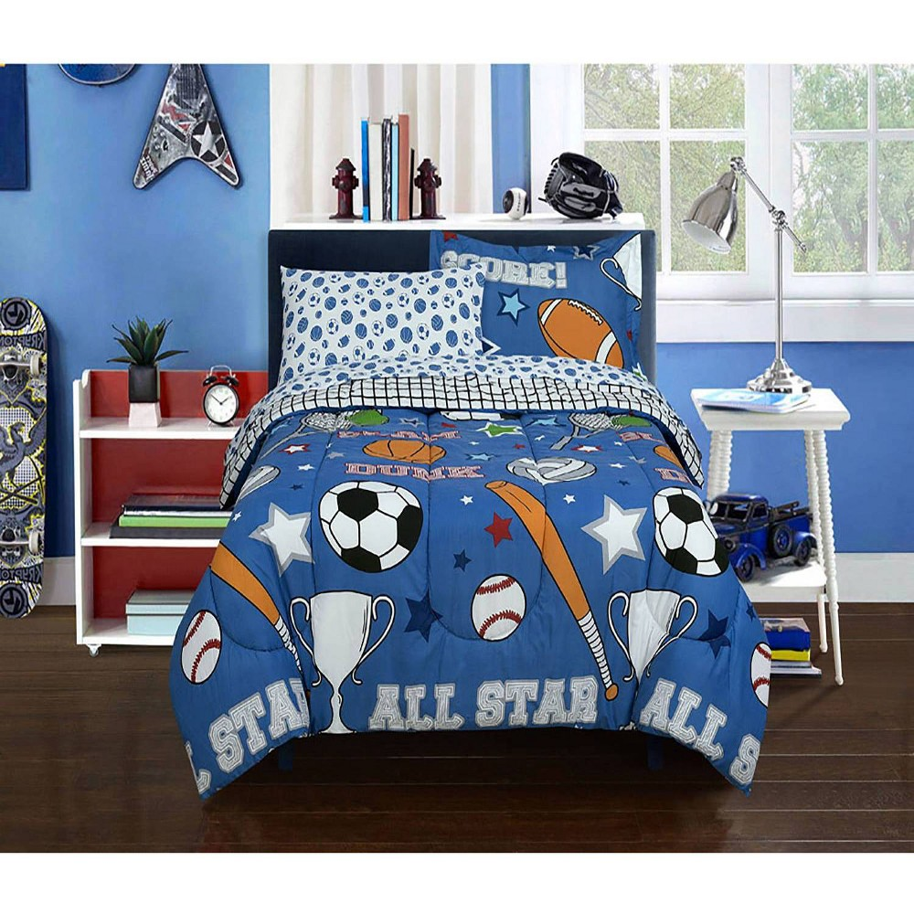 Twin Game Day Sports Super Soft Bed In A Bag Kidz Mix