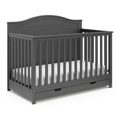 Storkcraft Moss 4-in-1 Convertible Crib with Drawer - Gray