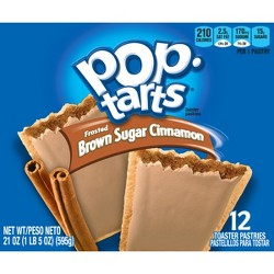 Pop-Tarts Frosted Brown Sugar Cinnamon Pastries - 12ct/20.31oz - Kellogg's