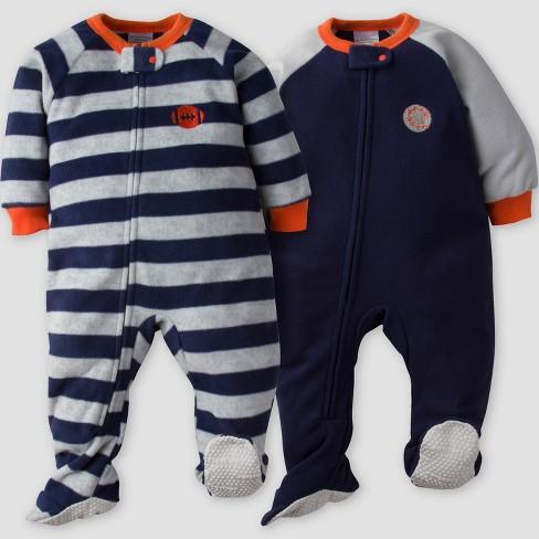 Gerber 174 Baby Boys 2pk Sport Stripe Micro Fleece Blanket